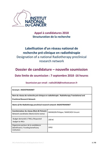 INCa_Dossier candidature_re soumission_RADIOTRANSNET